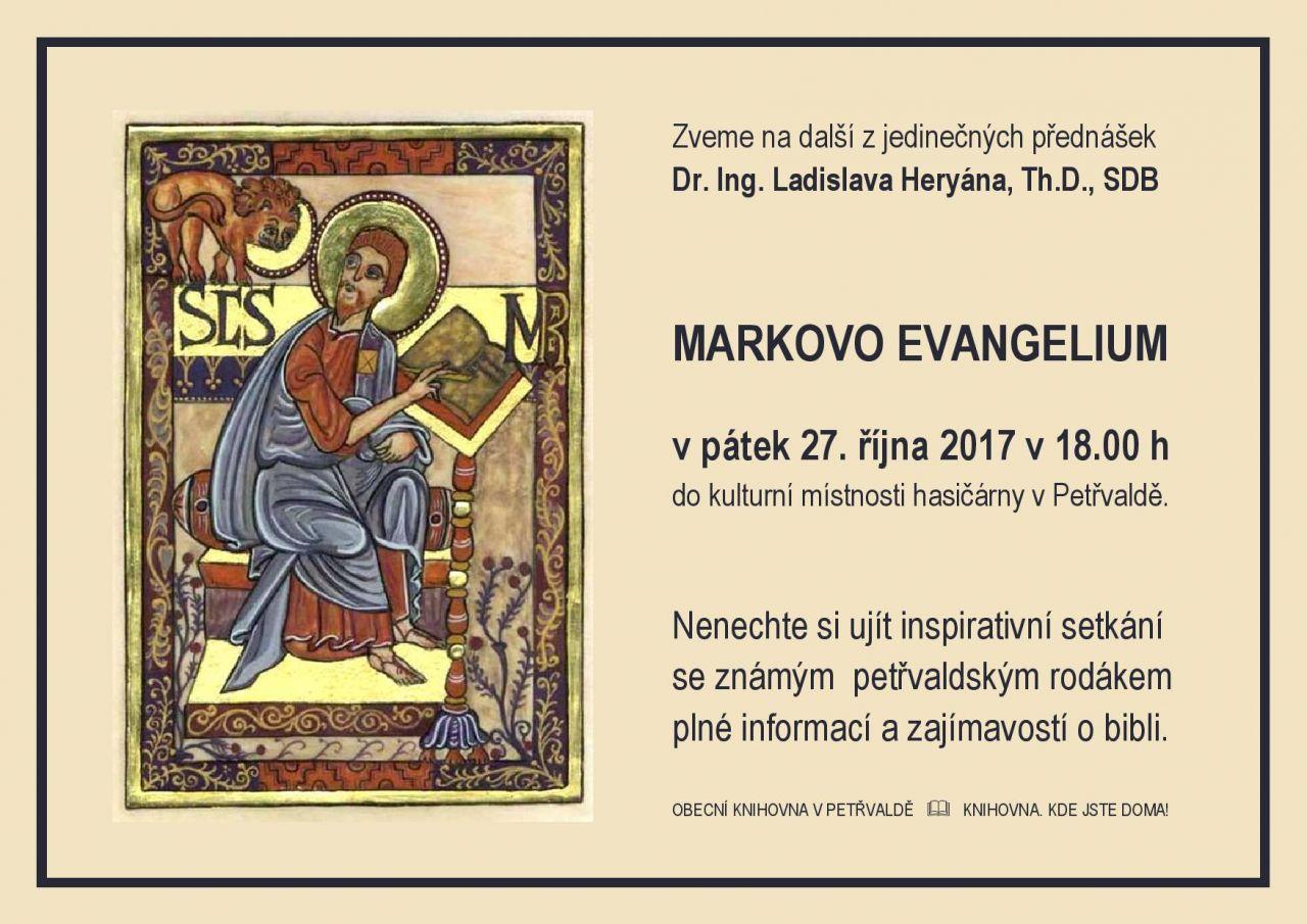 Přednáška Markovo evangelium 1