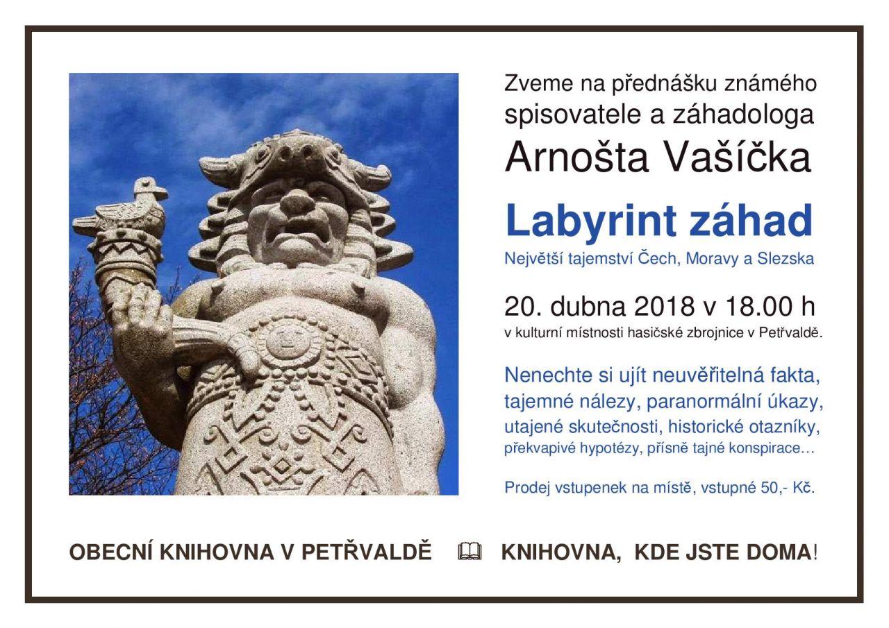 Labyrint záhad - přednáška známého spisovatele a záhadologa Arnošta Vašíčka 1