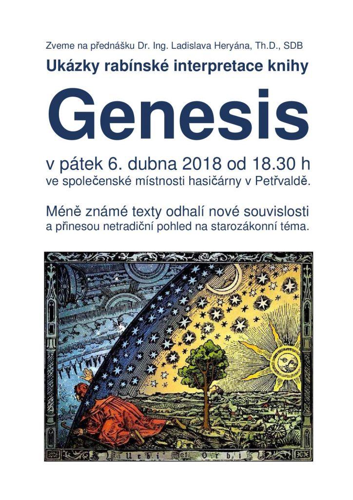 Přednáška L. Heryána Ukázky rabínské interpretace knihy Genesis